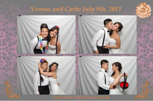 Yomna and Carlo July 9th, 2011 in hipbooth, Vancouver's premier wedding photobooth