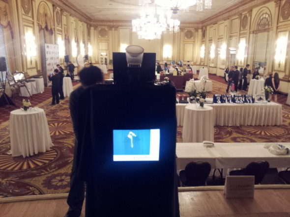 Setting up at the Fairmont Hotel Vancouver with hipbooth.com