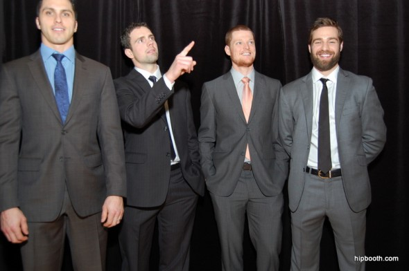Canucks players having some good fun at hipbooth.com
