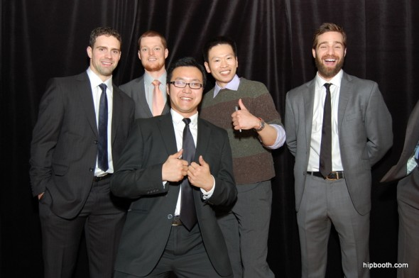 Having some fun with the Canucks Players at hipbooth.com